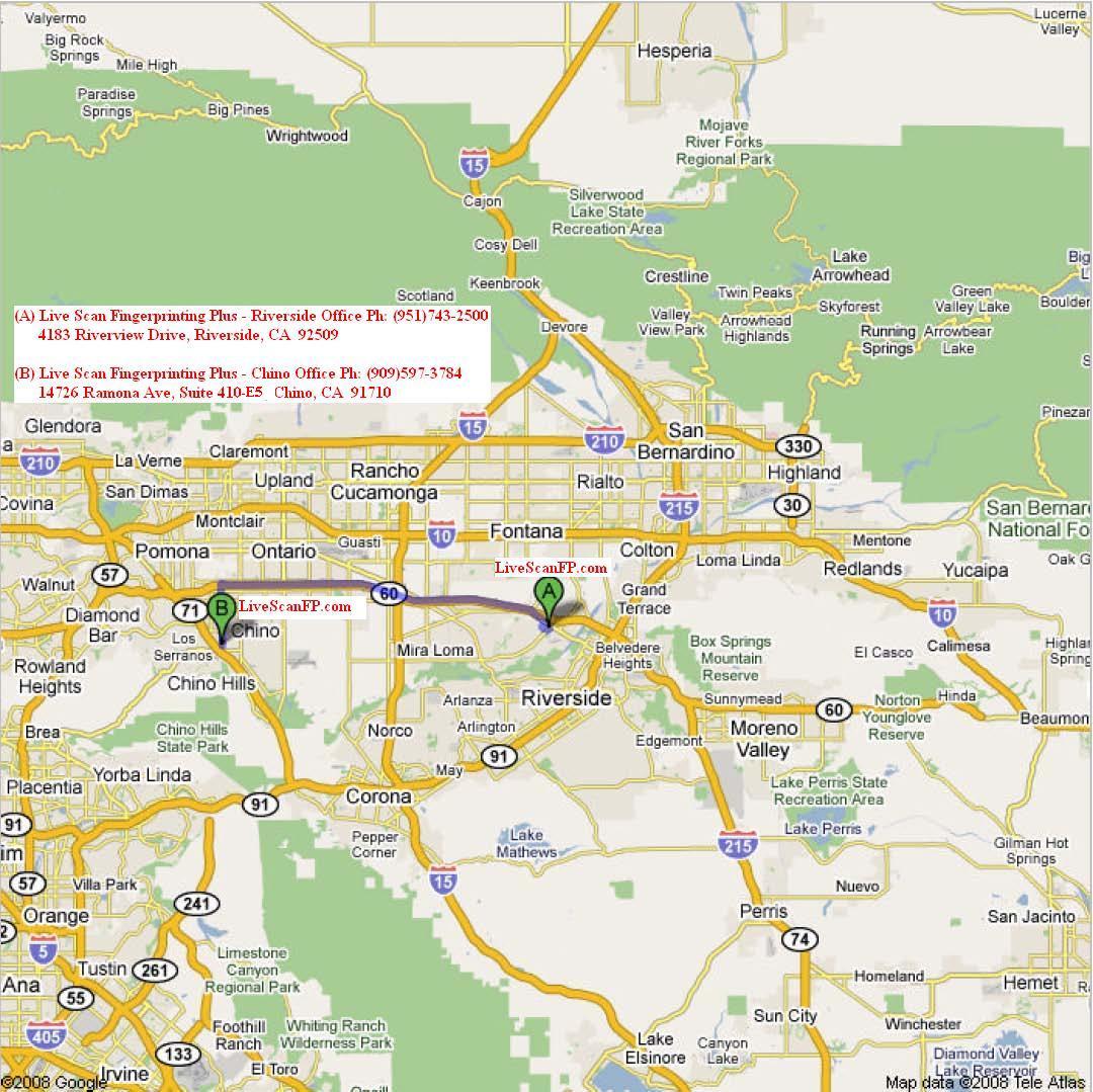 Live Scan Fingerprinting Locations Chino Chino Hills Pomona